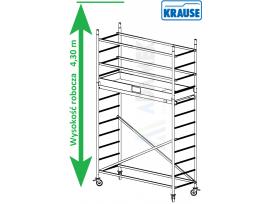 Rusztowanie aluminiowe jezdne KRAUSE - ProTec. 2,00m x 0,70m
