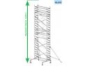 Rusztowanie aluminiowe jezdne KRAUSE - ProTec. 2,00m x 0,70m Wysokość robocza: 8,3m