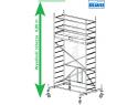 Rusztowanie aluminiowe jezdne składane KRAUSE - ProTec XS 2,00m x 0,70m Wysokość robocza: 4,8m