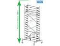 Rusztowanie aluminiowe jezdne składane KRAUSE - ProTec XS 2,00m x 0,70m Wysokość robocza: 5,8m