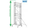 Rusztowanie aluminiowe jezdne KRAUSE - STABILO 10. 2,00m x 0,75m Wysokość robocza: 7,4m