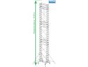 Rusztowanie aluminiowe jezdne KRAUSE - STABILO 10. 2,00m x 0,75m Wysokość robocza: 14,4m