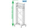 Rusztowanie aluminiowe jezdne KRAUSE - STABILO 10. 2,50m x 0,75m Wysokość robocza: 6,4m