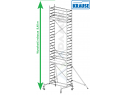 Rusztowanie aluminiowe jezdne KRAUSE - STABILO 10. 2,50m x 0,75 Wysokość robocza: 8,4m
