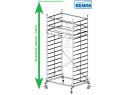 Rusztowanie aluminiowe jezdne KRAUSE - STABILO 50. 2,50m x 1,50m Wysokość robocza: 5,4m