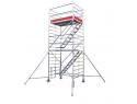Rusztowanie aluminiowe jezdne KRAUSE - STABILO 5500. 2,00m x 1,50m Wysokość robocza: 10,3m